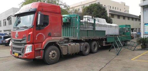网带式超声波清洗机发往天津