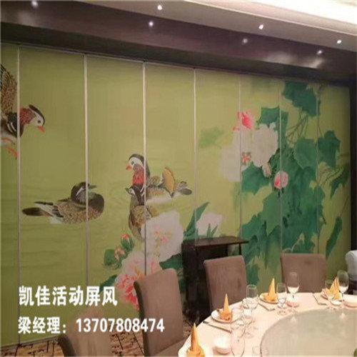 广州番来顺森林餐厅活动隔断安装