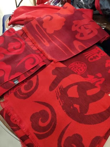 柳州紅圍巾印字
