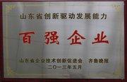 山東省創新驅動發展能力百強企業