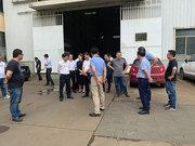 嵊州市一行領導督查浙江威榮精鍛有限公司2020重點建設項目