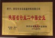 陜西省行業二十強企業